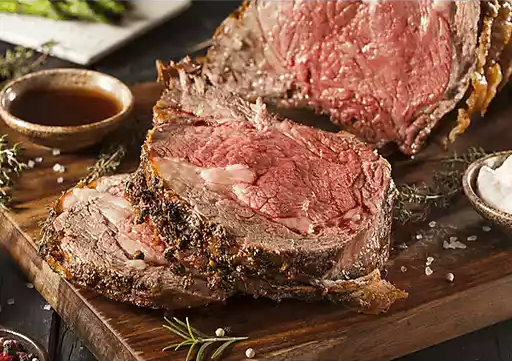 Shop Rancher's Legend | Peppered Rib eye Roast with Roasted Garlic Sauce-crop