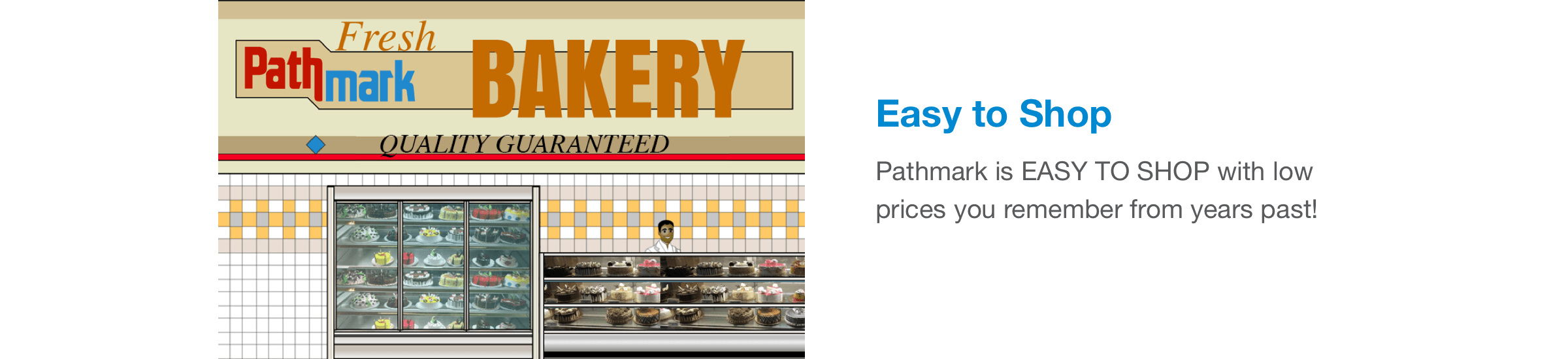 Pathmark is EASY TO SHOP with low prices you remember from years past!